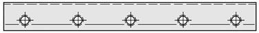 Messerwellen-Druckleiste Gesamtlänge bis 610 mm Preis pro Stück