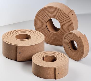 Gummikork-Bandagen Typ 1011 Meterware, 65 mm breit